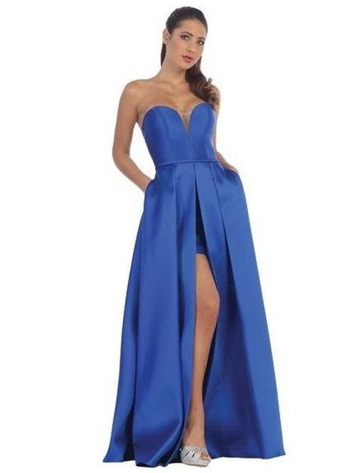 Royal Blue Sweetheart Long Dress Size M