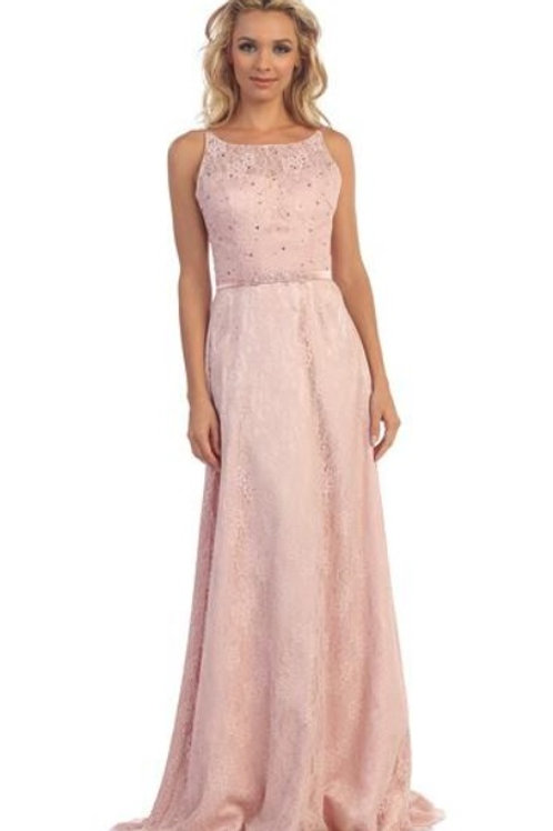 Blush Lace Long Dress Size XS, S, M