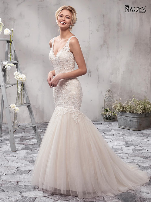 Champagne Mermaid Bridal Gown Size 10