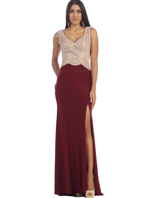 Burgundy Long Dress Size 4, 6