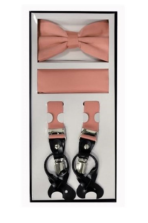 Dusty Pink Suspender Set