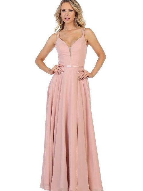 Dusty Rose Long Dress Size XL