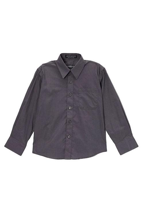 Boys Charcoal Button Up Dress Shirt Size 16