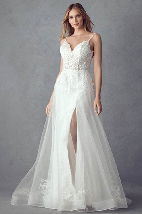 Off White Lace Bridal Gown Size 3XL