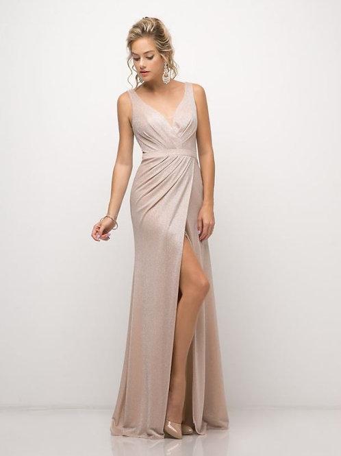 Blush Metallic Long Dress Size 2XL
