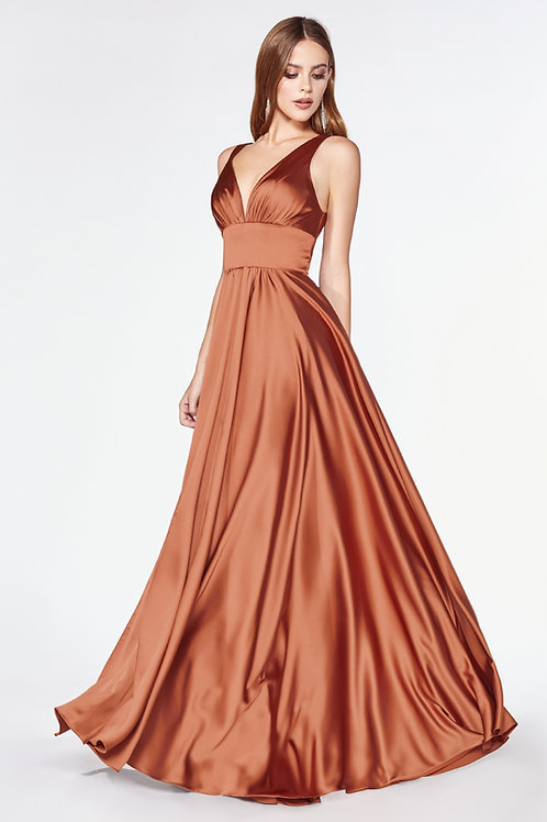 Sienna Satin Long Dress Size 8