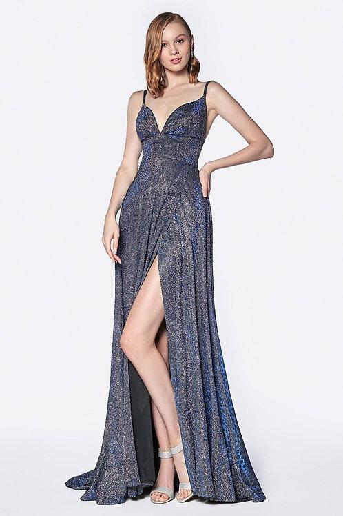 Royal Blue Metallic Dress Size 10