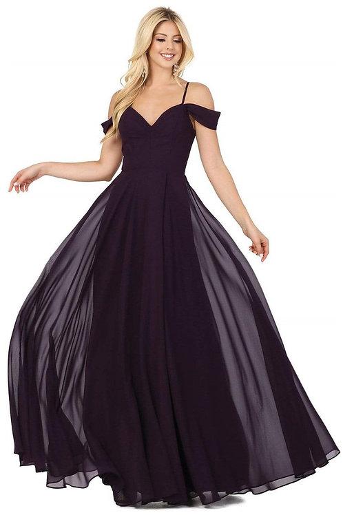 Plum Off Shoulder Long Dress Size M