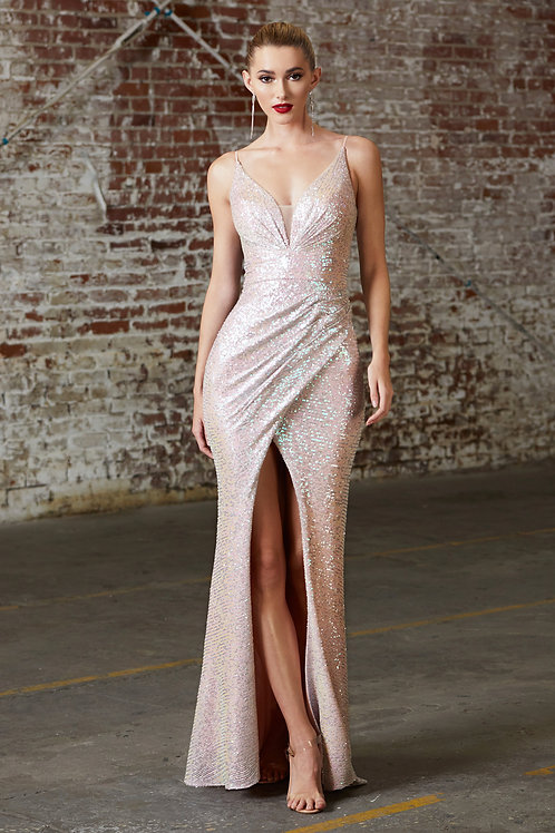 Blush Opal Sequin Long Dress Size XL