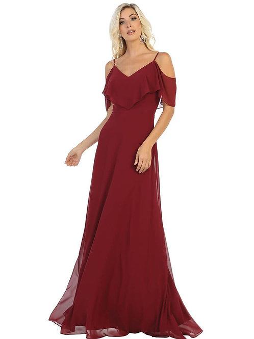 Burgundy Off Shoulder Dress Size 20