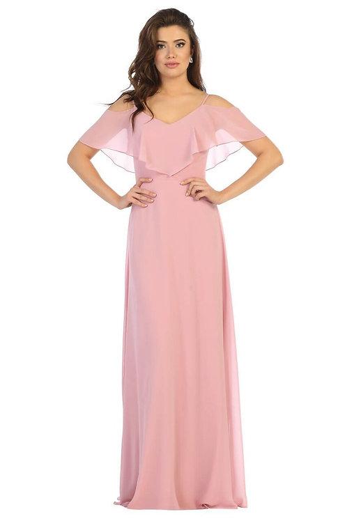Dusty Rose Off Shoulder Dress Size 4