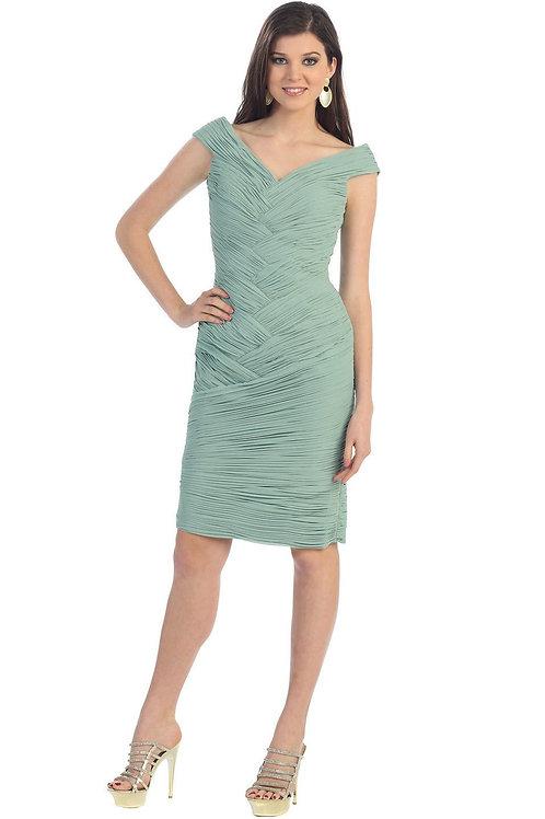 Sage Pleated Short Dress Size 8