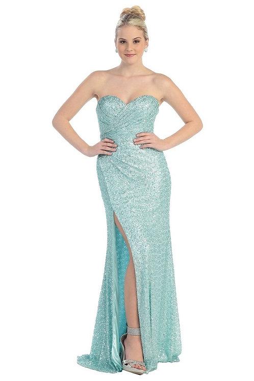 Mint Sequin Long Dress Size 10