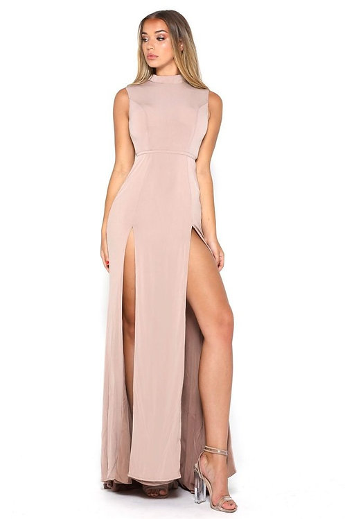 Nude Long Dress Size 2, 6