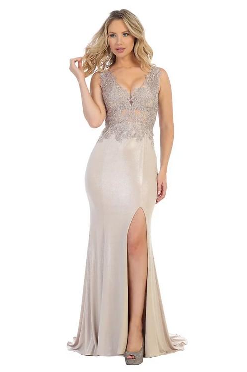 Rose Gold Long Dress Size L