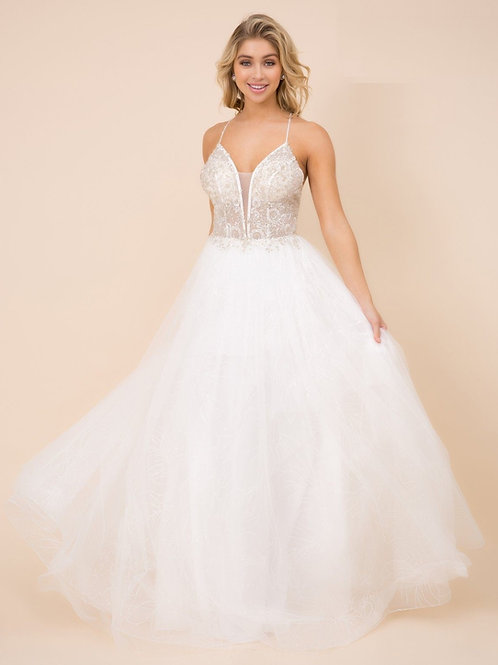 White Beaded Bridal Gown Size 4