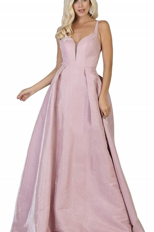 Pink Glitter Long Dress Size 4