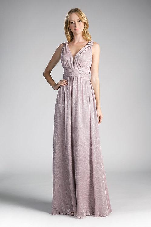 Blush Metallic Long Dress Size 14