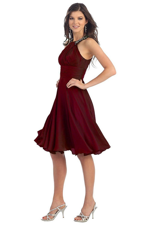 Burgundy Short Dress Size 10