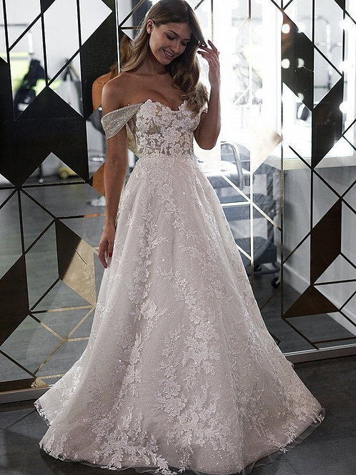 Ivory Sparkle Bridal Gown Size 8
