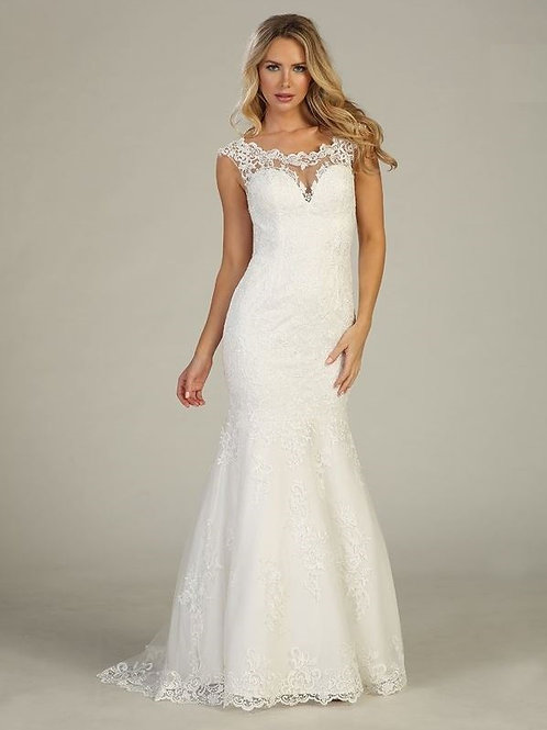 Off White Lace Fit & Flare Bridal Gown Size 2XL