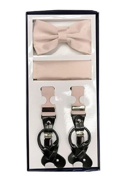 Pearl Pink Suspender Set