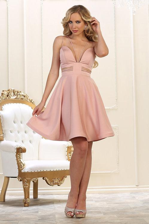 Dusty Rose Cutout Short Dress Size 8
