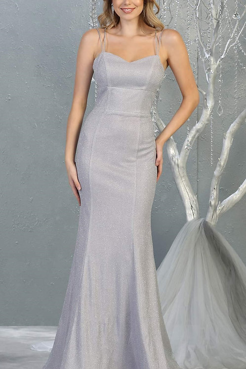 Lilac Glitter Long Dress