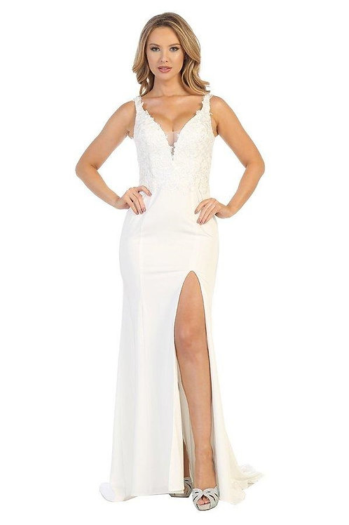 Off White Lace Fit & Flare Bridal Gown Size M