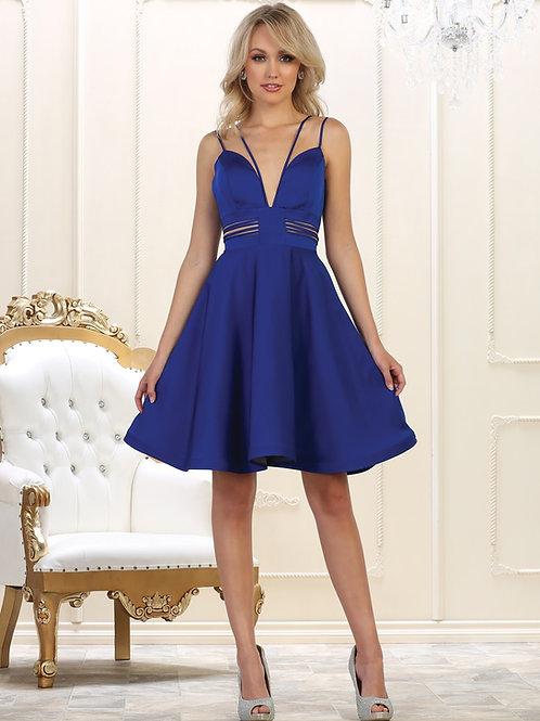 Royal Blue Cutout Short Dress Size 4