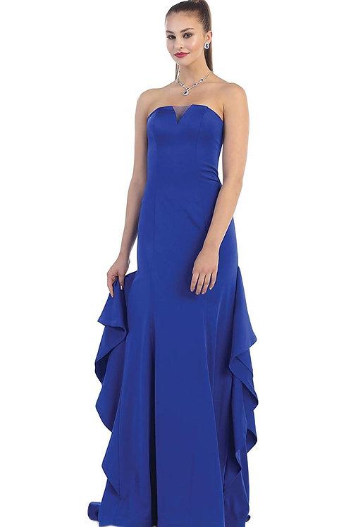 Royal Blue Strapless Long Dress Size 4