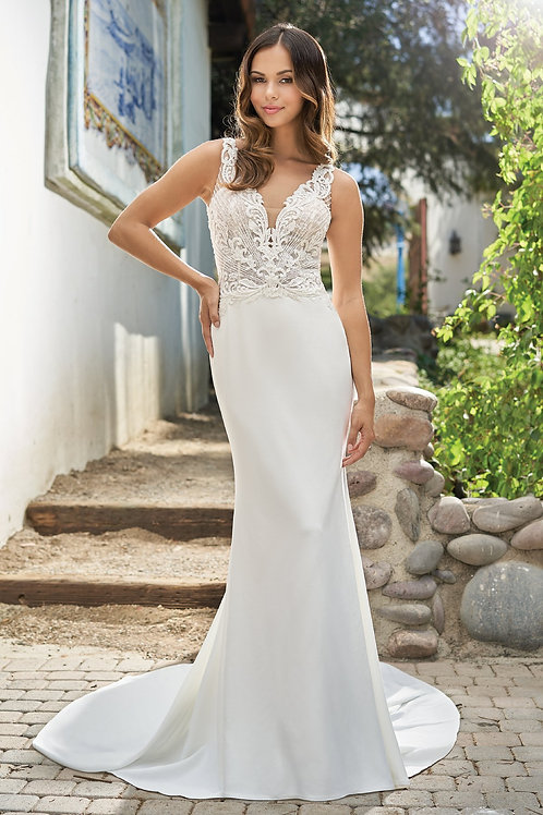 Ivory Beaded Fit & Flare Bridal Gown Size 8