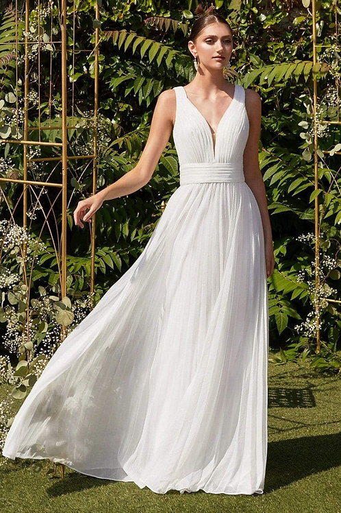 Off White Shimmer Bridal Gown Size 18