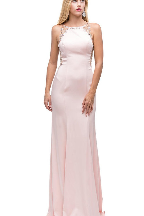 Blush Jeweled Long Dress Size XS, M