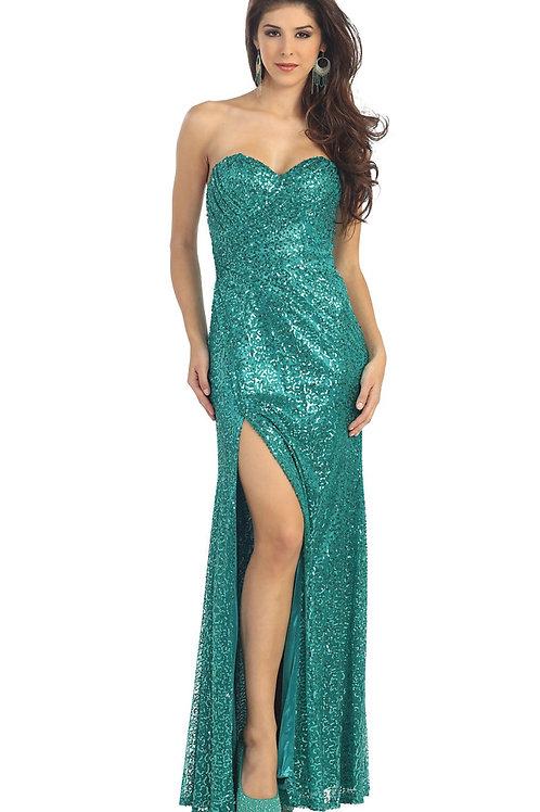 Jade Sequin Long Dress Size 6