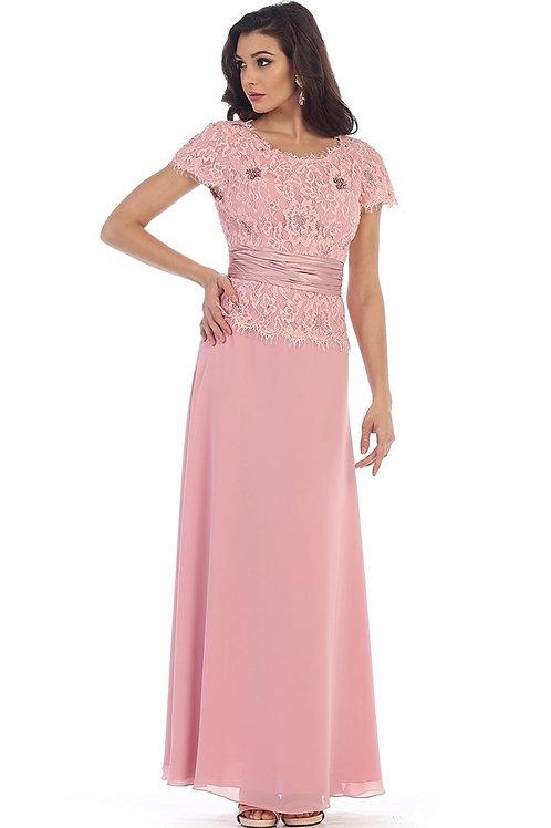 Dusty Rose Long Dress Size M