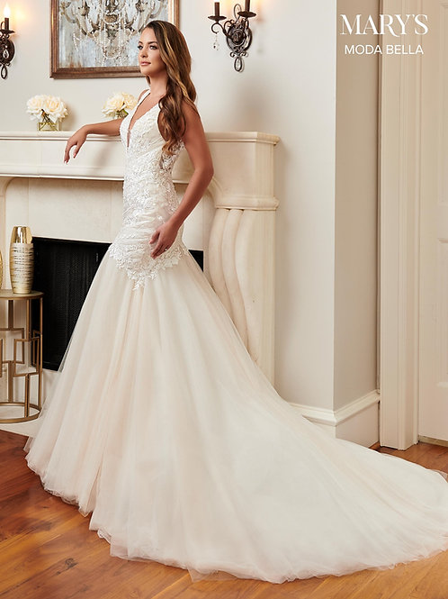 Ivory Lace Mermaid Style Bridal Gown Size 16