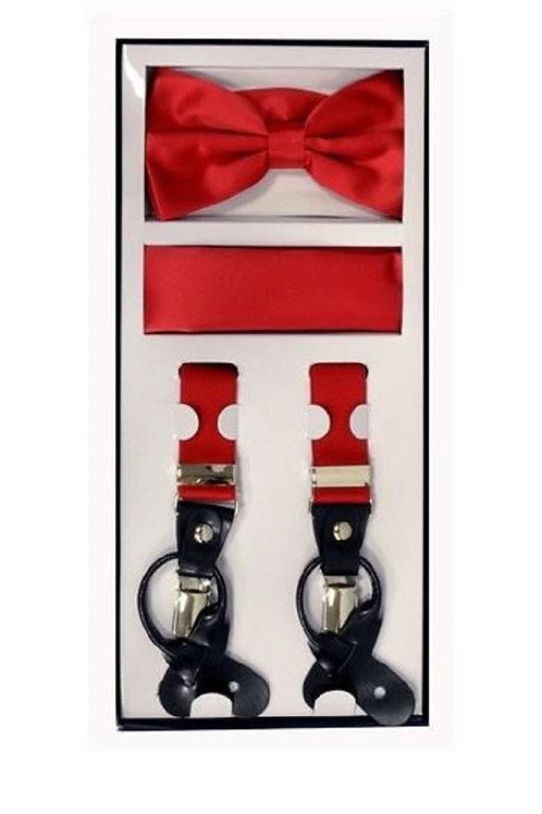 Red Suspender Set
