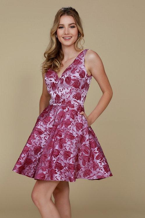 Magenta Floral Short Dress Size XL