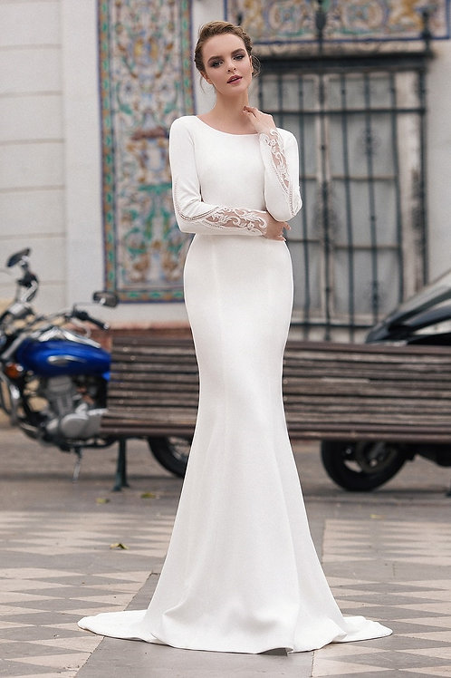 Ivory Fit & Flare Bridal Gown Size 2