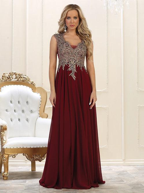 Burgundy Long Dress Size 4