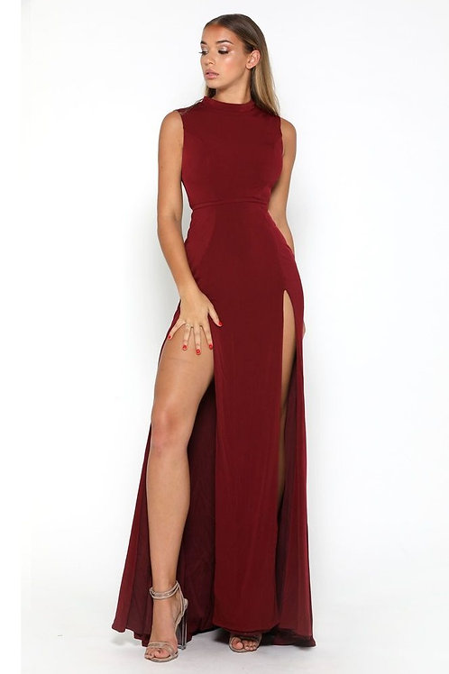 Burgundy Long Dress Size 0, 8