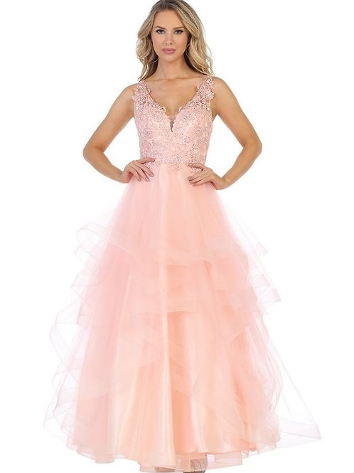 Blush Layered Long Dress Size XL
