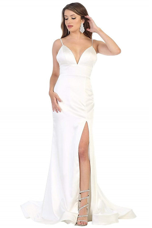 Ivory Satin Bridal Gown Size 4