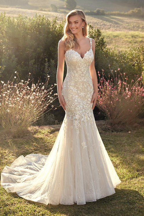 Ivory Lace Fit & Flare Bridal Gown Size 10