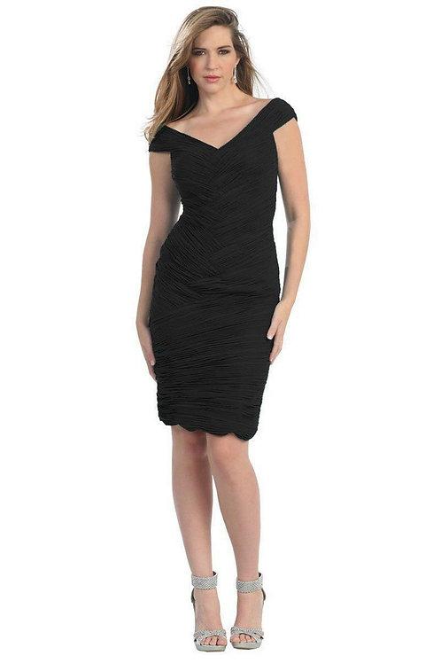 Black Pleated Short Dress Size 4, 6, 10