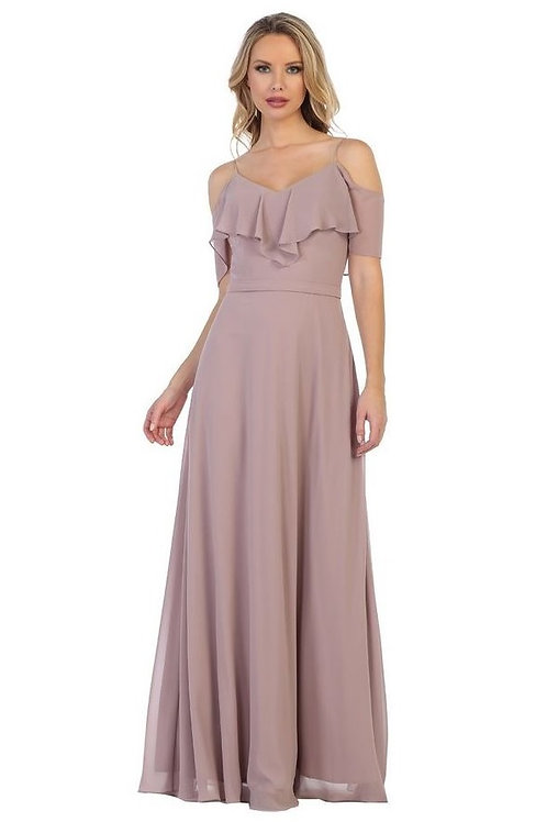 Mauve Off Shoulder Long Dress Size 2XL