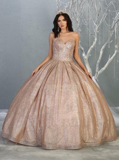 Mauve Glitter Ball Gown Size 4