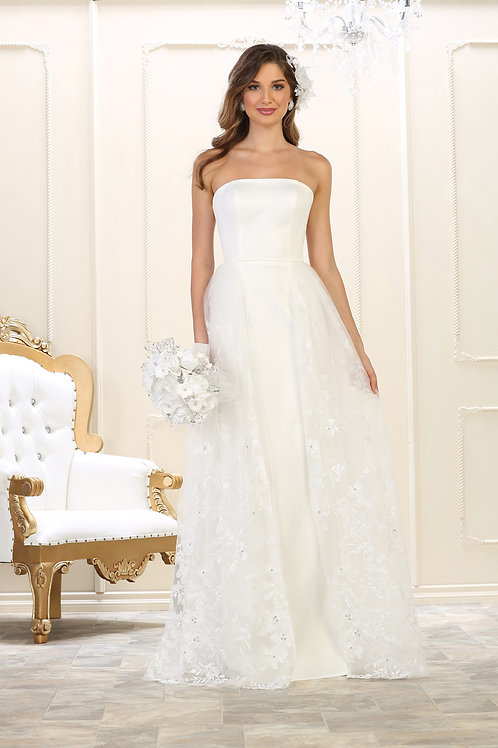 Ivory Strapless Bridal Gown Size 10