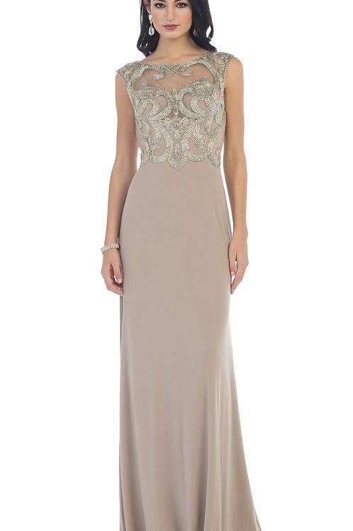 Mocha Long Dress Size 6